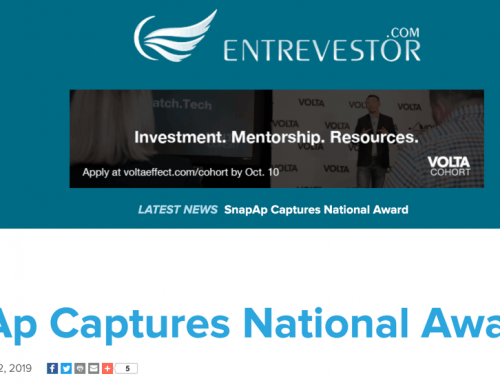 Entrevestor: SnapAp Captures National IT Innovation Award